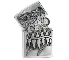 <b>Зажигалка Zippo</b> Classic Emblem Fire Breathing Dragon Brushed ...