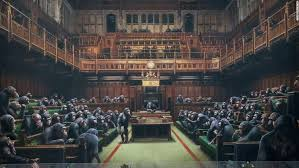 Banksy's chimp-filled <b>Parliament up for</b> sale amid Brexit chaos ...