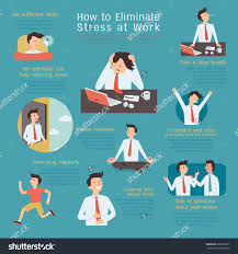 infographics how eliminate reduce stress workplace stock vector infographics of how to eliminate or reduce stress at workplace simple character flat design
