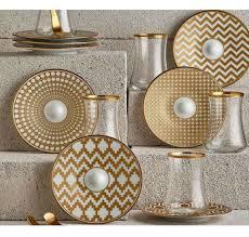 Dervish Tulip Tea <b>Glass</b> and Saucer - Mat Gold | Чайные <b>наборы</b> ...