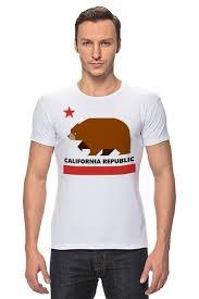 Футболка Стрэйч <b>Калифорния</b> (<b>Медведь</b>) #1673616 от fanart по ...