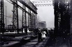 「1911 the titanic launching」の画像検索結果