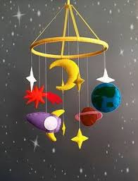 Baby crib mobile <b>Space</b> baby mobile solar system mobile Spaceship ...