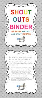 17 best ideas about assistant principal principal boost school morale the shout outs binder plus posters