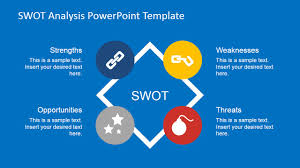 flat swot analysis powerpoint template slidemodel flat swot analysis powerpoint template
