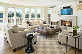 faux fur ottoman living room beach style with french doors french doors side tables bedroom lounge furniture