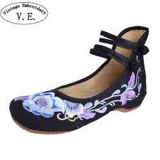 <b>Women Flats Shoes</b> Chinese Dance Old Beijing Cloth <b>Shoes</b> ...