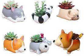 6 PCS Set Cute Cartoon Animal Corgi Pug Schnauzer ... - Amazon.com
