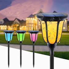 <b>96 led solar flame</b> light waterproof camping garden decor lantern ...