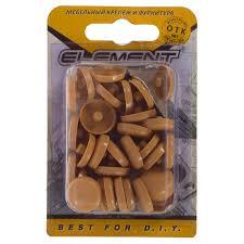 <b>Заглушки</b> рамного дюбеля Element 15 мм <b>пластик</b> цвет бук, 35 шт.