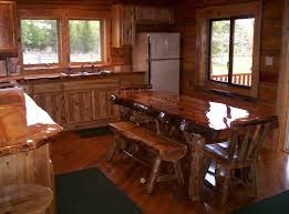 rustic oak kitchen table