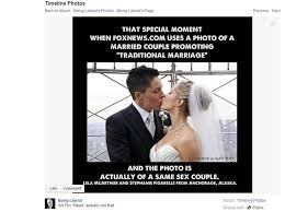 Facebook meme: Fox News topped opposite-sex marriage article with ... via Relatably.com