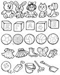 Раскраска игрушки для детей 5-6 лет