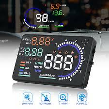 """5.5"""" <b>A8 Car HUD</b> Head Up Display OBDII OBD2 Auto Gauge Dash ..."""