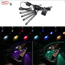 new rgb colorful music control led interior car mood light strip light atmosphere pathway lighting lamp car mood lighting