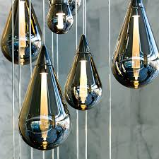 pendant lamp contemporary blown glass led fluid blown glass pendant lights