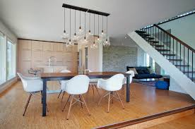 kitchen table lighting dining room contemporary interior designs with cork flooring cork flooring breakfast table lighting
