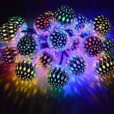 DCOO Solar <b>String Lights Moroccan Ball</b> 15ft 20LED Globe Fairy ...