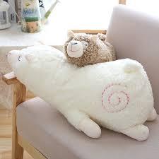 30cm <b>Soft Llama</b> Pillow Cartoon Sleeping <b>Alpaca Plush Toy</b> Fabric ...