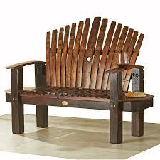 wine barrel outdoor furniture reclaimed wine barrel stave love seat barrel office barrel middot