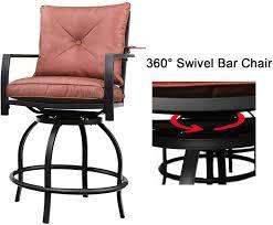 <b>2</b> Chairs Patio Festival Swivel Bar Stools Patio Height <b>Bistro Chairs</b> ...