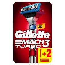 Бритвенный <b>станок Gillette</b> Mach3 Turbo 3D с 2 сменными ...