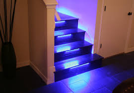 wallace takes his stairs beyond the bulb with color changing led strip application lamps staircase