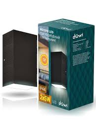 <b>Светильник уличный</b> 2х5W 3000K IP44 матовый черный <b>duwi</b> ...