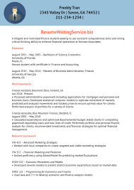 finance trainee resume sample resume writing service after