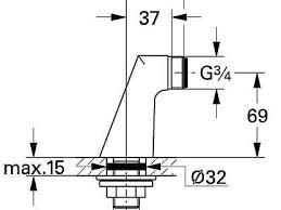 <b>Крепеж для</b> вертикального монтажа <b>Grohe 12030000</b> купить в ...