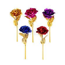 24K Gold покрытием Розы День Святого <b>Валентина</b> подарок на ...