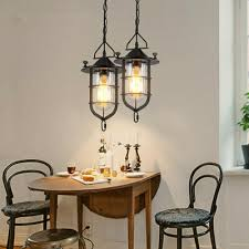 Loft Metal Chandelier <b>Vintage Ceiling</b> Fixture <b>Pendant</b> Light Lantern ...