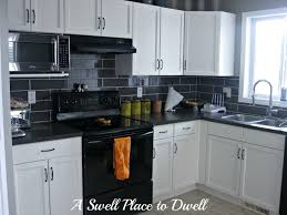 decor white kitchen black appliances ideas