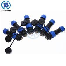 <b>Waterproof Connector</b> Male Plug And Female Socket 2/3/4/5/6/7/8/9 ...