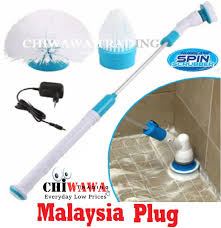 【Malaysia Plug】<b>Electric</b> Hurricane Spin Scrubber Rechargeable ...