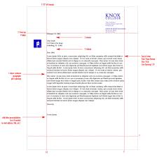 stationery system graphic identities standards knox college standard letter format margins