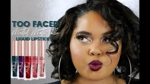 <b>Too Faced</b> Melted Matte-Tallic Liquified Lipstick Review + Try On ...