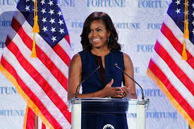 matt damon s mit commencement speech watch com u s first lady michelle obama speaks onstage during fortune s most powerful women summit day 2