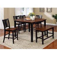 cherry counter height piece:  piece counter height dining set with bench country dover black and cherry