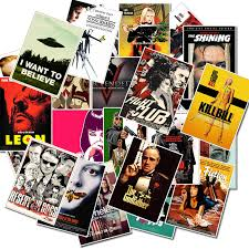 <b>25pcs Classic Movie</b> stickers For Luggage Laptop Art Painting Kill ...