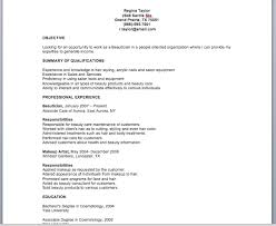 beautician job description  make a restaurant resume restaurant    beautician resume