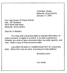 personal business letter format sample business letter modified personal business letter format sample business letter modified block format