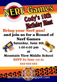 nerf birthday party invitations making memories your kids nerf birthday party invitation