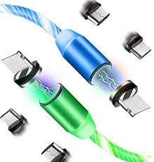 LED Flowing Magnetic Charger Green Blue Cable ... - Amazon.com