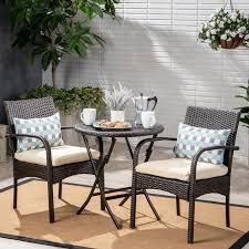 Patio Conversation Set <b>3 Piece Bistro</b> Outdoor Garden Furniture ...