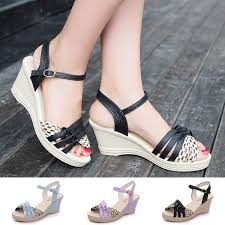 Plus Size 4.5-9.5 <b>Fashion Women Summer</b> Casual High-heeled ...