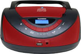 <b>Магнитола Telefunken TF-CSRP3497B</b> (<b>черный</b> с красным) купить ...