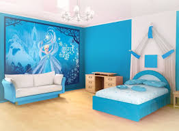 Bedroom Disney Frozen Wall Mural Elsa Kids Room Decorating Ideas - Bedroom wall murals ideas