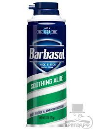 Купить смягчающая <b>крем</b>-<b>пена для бритья Barbasol</b> Алоэ ...