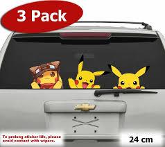JUMBO Pack <b>Cute Pikachu</b> Pokemon Go Car JDM Wall Window ...